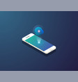 mobile isometric phone vector image vector image