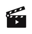 movie clapper open icon vector image vector image