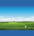 nature golf background vector image vector image