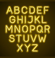 neon light glowing alphabet vector image