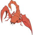 Nice red scorpion cartoon vector image