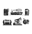 oil industry production set gasoline processing vector image vector image