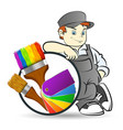 painter with a painting tool vector image vector image