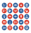 plumbing service flat glyph icons house vector image