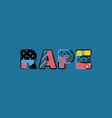 rape concept word art vector image