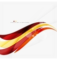 Red orange bright feather lines concept vector image vector image