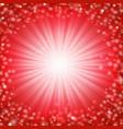 red sunburst poster vector image vector image