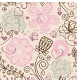 Retro romantic seamless pattern vector image vector image