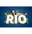 rio 2016 games eps 10 vector image vector image