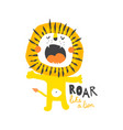 roar like a lion vector image vector image