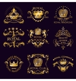 Royal Traditions Golden Logos vector image