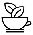 salad bowl icon outline style vector image vector image