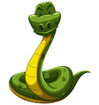 Scary snake vector image vector image