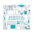 set of digital marketin icons vector image