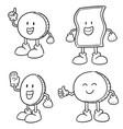 set of money cartoon vector image vector image