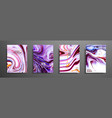 set of universal cards liquid marble vector image