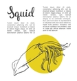 solated squid with yellow spots vector image vector image