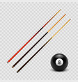 stock realistic billiard pool vector image vector image