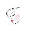 Stylish woman wearing a red lipstick vector image vector image