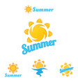 summer logo beautiful summer vector image vector image