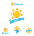 summer logo beautiful vector image vector image