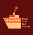 time to travel concept happy family rides boat on vector image vector image