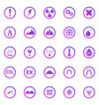 warning sign gradient icons on white background vector image