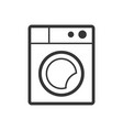 washing machine outline single isolated vector image