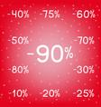 winter discounts sale black friday vector image vector image