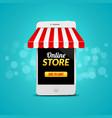 Mobile Online Store concept business design vector image