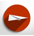 flat paper plane web icon vector image