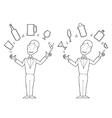 Juggling barman vector image