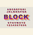 80 s retro alphabet font rainbow style vintage vector image