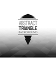 Abstract black triangle field perspetive pattern vector image