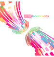 abstract curved colors on a white vector image vector image