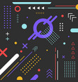 abstract elements geometric colorful pattern vector image