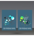 Abstract geometric image Set in beautiful design vector image vector image