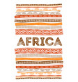 african background flyer with tribal traditional vector image vector image