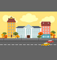 autumn city landscape concept vector image