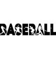 baseball on white background vector image vector image