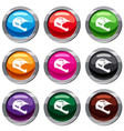 bicycle helmet set 9 collection vector image vector image