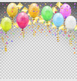 birthday party with balloons vector image vector image