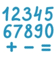 blue numbers from zero to nine vector image