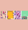 bright banners with floral decorative elements vector image