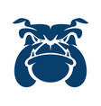 bulldog head cartoon mascot logo vector image vector image