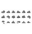 chinese cloud icon raw material for use glyph vector image vector image