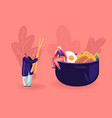 chinese food and asian gastronomy concept tiny vector image