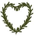 Christmas coniferous heart symbol vector image vector image