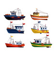 commercial fishing trawler for fishery industrial vector image