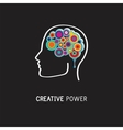 creative digital abstract colorful icon human vector image